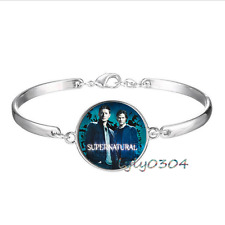 Wholesale Tibet silver Glass Cabochon bracelet Supernatural Super-wiki