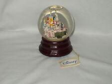 CINDERELLA CASTLE vintage disney HAPPY BIRTHDAY musical SNOWGLOBE globe w/ tag