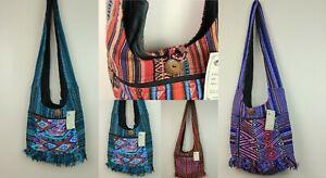 Handmade Ethnic Hippy Cotton Shoulder Messenger Bag Jogi Handbag Cross Body
