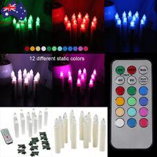 Flameless 10pcs 12x Colors LED Tea Tree Candles Light Wedding Party Christmas