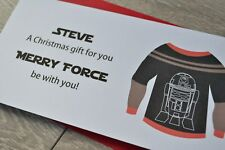 Personalised Christmas Money Wallet Pocket Gift Card Star Wars R2-D2