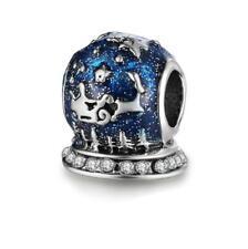 European 925 Silver CZ Charm Beads Pendant Fit sterling Bracelet Necklace N#604