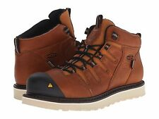 New Men's KEEN Utility Glendale Waterproof Steel Toe Work Boots - PEANUT 1013259