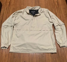 Footjoy Dryjoys Mens Golf Rain Jacket Beige Convertible Sleeve Golf Pullover L