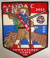 LOWWAPANEU 191 PA 2-PATCH OA 100TH ANN 2015 NOAC CENTENNIAL NORMAN ROCKWELL FLAP