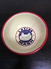 Primitive Farmhouse Soup/crl Bowl With Chicken Laying Four Bells Mash New