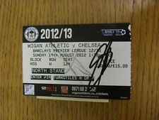 19/08/2012 Autographed Ticket: Wigan Athletic v Chelsea  - Hand Signed By Juan M