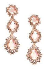 KENDRA SCOTT Aria Rose Plated Blush Dichroic Glass Statement Clip Earrings