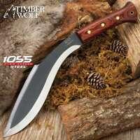 Timber Wolf Heart Of Darkness Kukri Machete Bowie Knife 5mm Full Tang 1055CS New