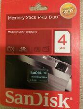 Lot of 3 - SanDisk Memory Stick PRO Duo 4GB Card - OEM Genuine SDMSPD-4096-A11C