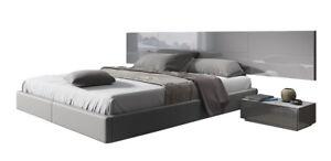 Elba Modern Bed with Lighting & 2 Nightstands