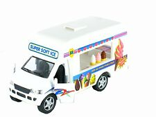 "New Pullback Action Ice Cream Vending Truck  4.5"" diecast car model truck"