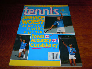 "VINTAGE OCTOBER 1990 "" TENNIS "" MAGAZINE - DENNIS VAN DER MEER COVER - MINT"