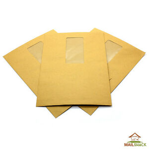 Pocket Manilla C5 Envelopes 80gsm Gummed Window HIGH QUALITY