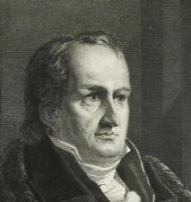 Johann Ludwig Tieck gravure originale vers 1850 Conquy Lecurieur poète allemand