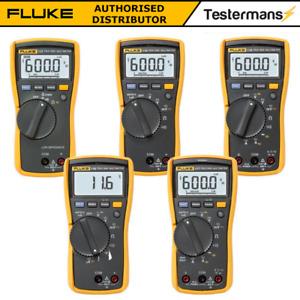 Fluke 113 114 115 116 117 True Digital HVAC Multimeter Mit Test Set Option
