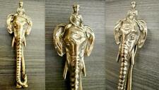 Vintage Heavy Brass Elephant Door Knocker (17.5cms) Very Good Condition