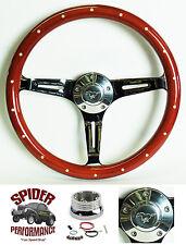 """1965-1969 Mustang steering wheel PONY 15"""" WOOD steering wheel"""