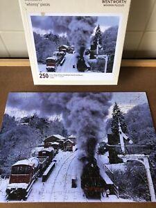"Wentworth Wooden Jigsaw Puzzle - ""Snow, Steam & Trees"" (Steam Train) - 250 Pcs"