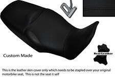 BLACK STITCH CUSTOM FITS HONDA XL 1000 V VARADERO 08-13 DUAL LEATHER SEAT COVER