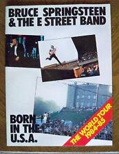 Bruce Springsteen Born In The USA World Tour Program '84-'85