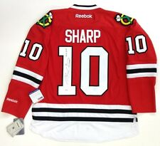 PATRICK SHARP SIGNED CHICAGO BLACKHAWKS RED 2010 CUP REEBOK JERSEY PSA/DNA COA