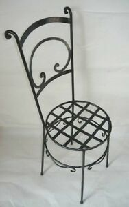 Chair Wrought Iron With Sitting Rotunda And Backrest High Hand Crafted by Hand