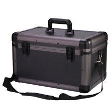 Black Aluminum Hard Case Toolboxes Large Storage Box with Shoulder Strap Box