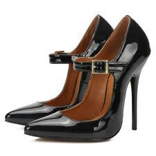 13cm Sexy Women Men High Heel Shoes Platform Boots Ankle Strap Sandals Plus Size
