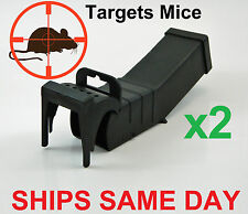 2 x Humane Mouse Rat Mice Trap Live Capture Animal Pest Gage Safe Reusable