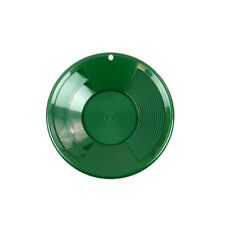 "8"" Green Plastic Gold Pan w/ Shallow & Deep Riffles for Gold Grospecting"