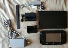 Nintendo Wii U 32GB Black Console + MarioKart 8 + Gamepad + Power Supplys
