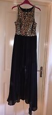 River Island Black/ Gold Sequin Stunning Dress, Size 10-12 - Longer At The Back!