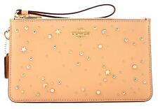 NWT COACH Crosby Clutch Celestial Studs Wristlet Embellishement Nude Pink 29324