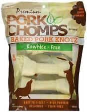 """Scott Pet Products 8 Count Pork Chomps Baked Knotz, 7"""", New, Free Shipping"""
