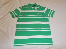 NEW WITH TAGS MEN'S CHAPS GREEN STRIPED SHORT SLEEVE POLO SIZE LARGE
