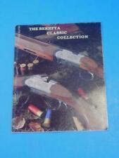 Baretta Classic Gun & Knife Brochure Vintage Muzzleloading Shotgun Dagger