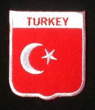 TURQUIE TURC NATIONAL Pays drapeau BADGE repasser patch à coudre écusson