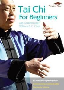 TAI CHI FOR BEGINNERS WITH GRANDMASTER WILLIAM C.C. CHEN - DVD - VERY GOOD
