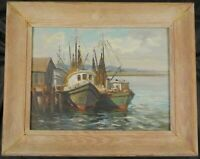 Original Oil Painting of Fishing Boats by Cape Cod Artist Irene Stry (Clair)