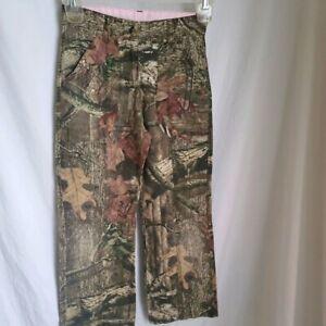 Mossy Oak Break Up Infinity Camo Twill Cargo Pant girls size 6 x