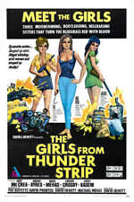 1966 THE GIRLS FROM THUNDER STRIP VINTAGE ACTION MOVIE POSTER PRINT 54x36 BIG