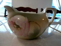 Vintage Hand Painted Pink Poppy Creamer marked GERMANY