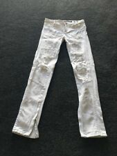 Lee Licks White Skinny Ripped Jeans Size 7