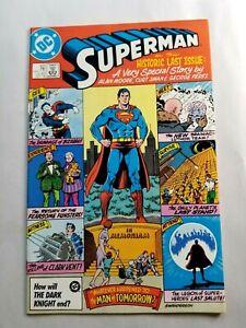 Superman 423 Last Issue HIGH GRADE 1986