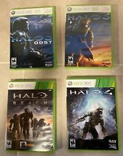 Lot of 4 Halo games for Xbox 360 - Halo 3, Halo 4, Halo 3 Odst and Halo Reach
