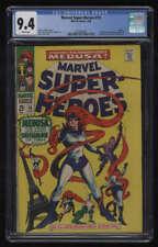 Marvel Super-Heroes #15 CGC 9.4 W Pgs Medusa Inhumans Marvel