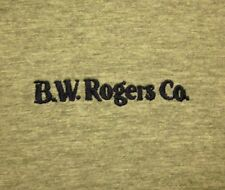 BW ROGERS embroidery Akron T shirt logo Hydraulic Equipment XL ringer tee OHIO