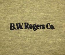 BW ROGERS embroidery Akron T shirt logo Hydraulic Equipment XL ringer tee OHIO