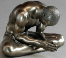 Bronze Effect Erotic Male Nude Statue Figurine Naked Man Sculpture Ornament Gift